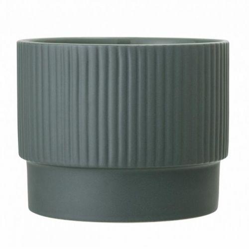 Bloomingville / Keramický obal na kvetináč Green Stoneware