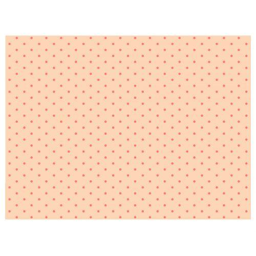 Maileg / Hedvábný papír Peach/Coral dots - 10 listů