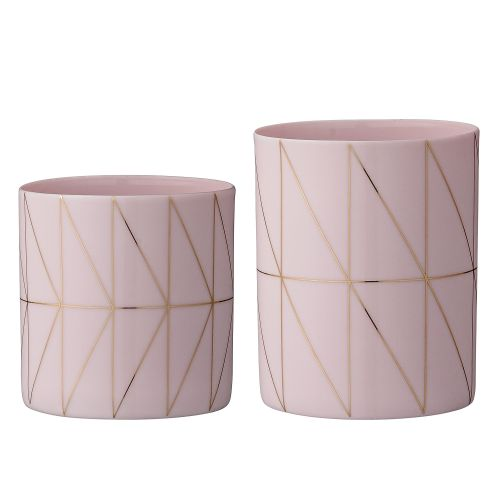 Bloomingville / Porcelánový svietnik na čajovú sviečku Rose&Gold