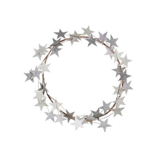 House Doctor / Vianočný veniec Star Silver 50 cm