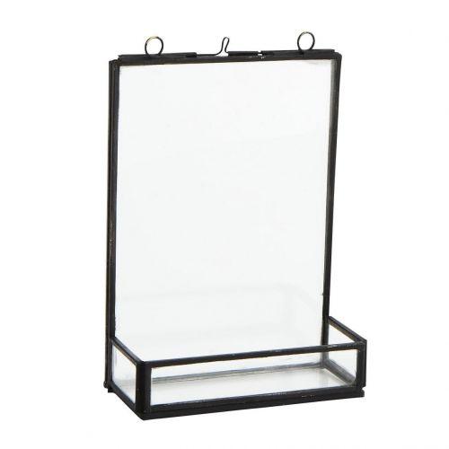 MADAM STOLTZ / Fotorámček z dvojitého skla s priehradkou Antique Black