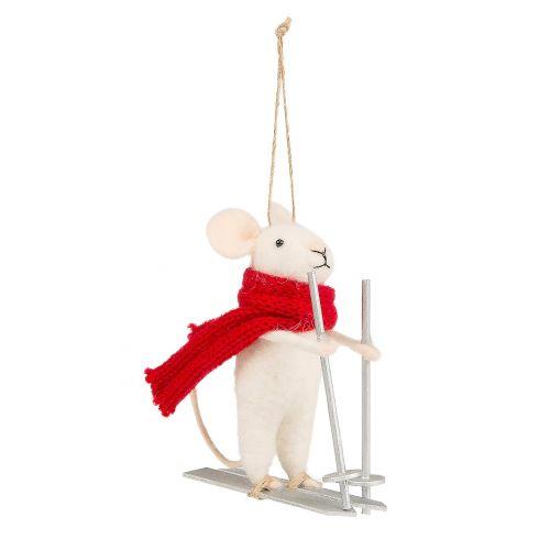 sass & belle / Závesná ozdoba Skiing Mouse