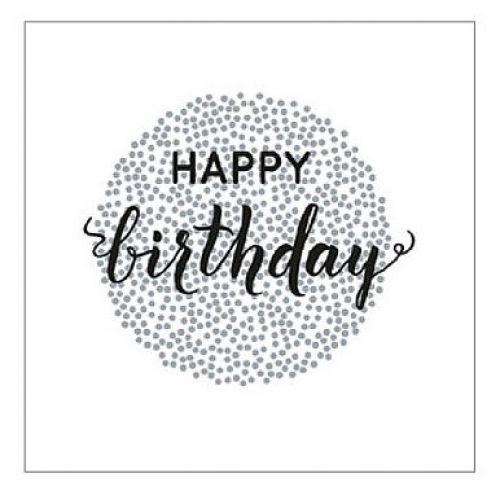 Krasilnikoff / Papierové obrúsky Happy Birthday 20 ks