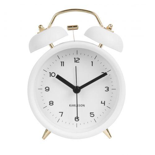 Karlsson / Dizajnový budík Classic Bell White