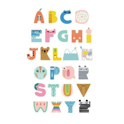 PETIT MONKEY / Detský plagát ABC Shaped Characters