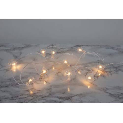 STAR TRADING / Svetelná LED reťaz Globe/white