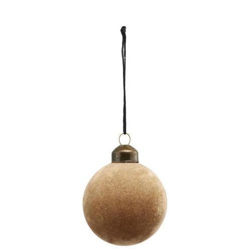 House Doctor / Vianočná ozdoba Flock Light Brown Ø 5,5 cm