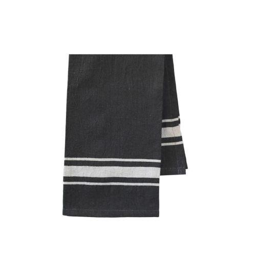 Chic Antique / Ľanová utierka Coal Barchant Stripe 70×50 cm