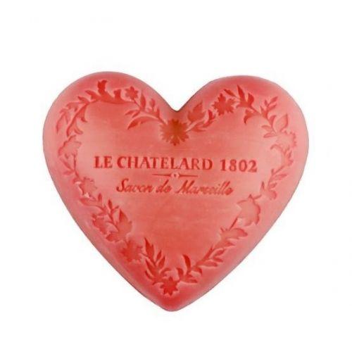 LE CHATELARD / Marseillské mydlo Heart - jazmín a ruža 100gr