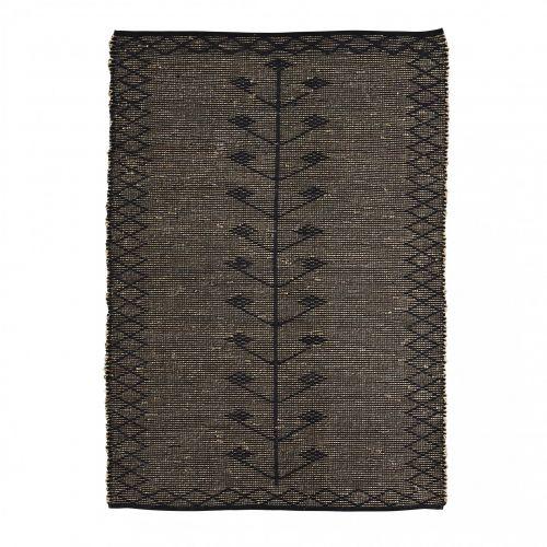 MADAM STOLTZ / Koberec Cotton&Seagrass Black 120x180