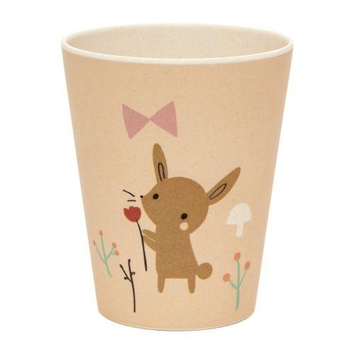 PETIT MONKEY / Detský bambusový pohárik Bamboo Bunny