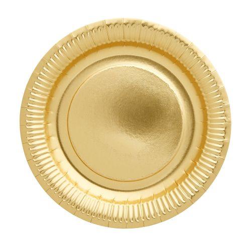 rice / Papierové tanieriky Gold - set 8 ks