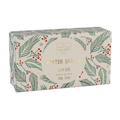 SCOTTISH FINE SOAPS / Vianočné tuhé mydlo Winter Spruce 220g