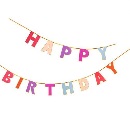 Talking Tables / Papierová girlanda Rose Happy Birthday