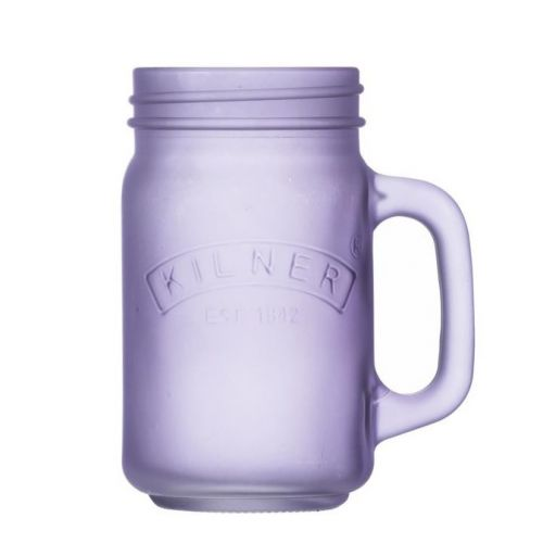 KILNER / Pohár s uchom Purple Frosted 400 ml