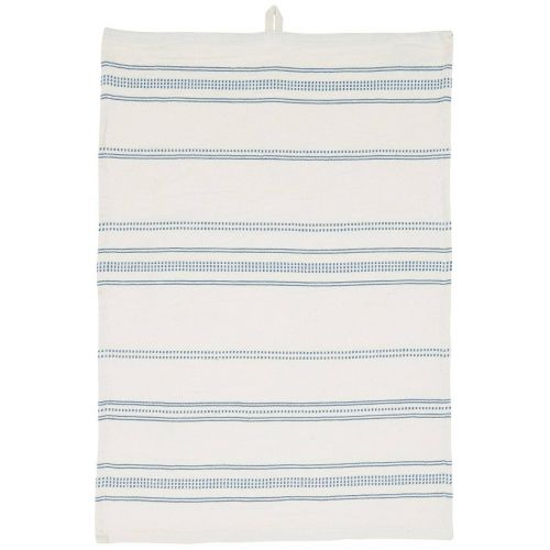 IB LAURSEN / Bavlnená utierka Blue Stripes Woven 50×70 cm