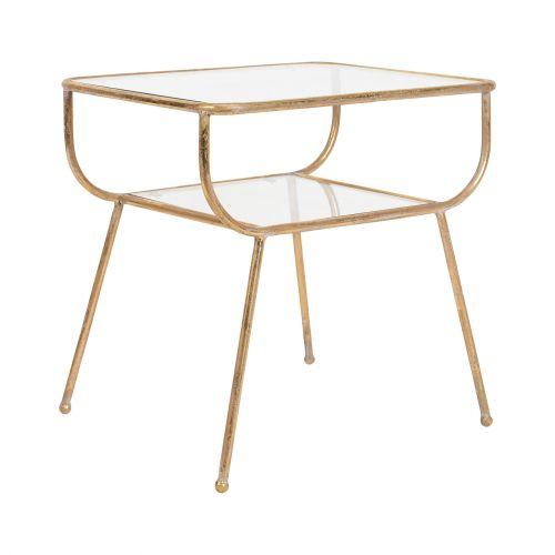 CÔTÉ TABLE / Zlatý kovový stolček - Métal et Verre