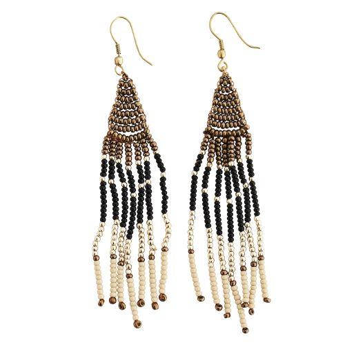 MADAM STOLTZ / Korálkové náušnice Beaded Earrings