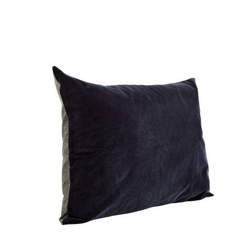 MADAM STOLTZ / Zamatový povlak na vankúš Black Grey