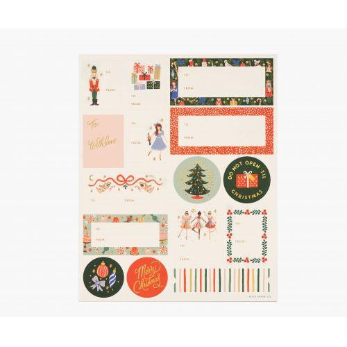 Rifle Paper Co. / Vianočné nálepky Nutcracker - 3 listy