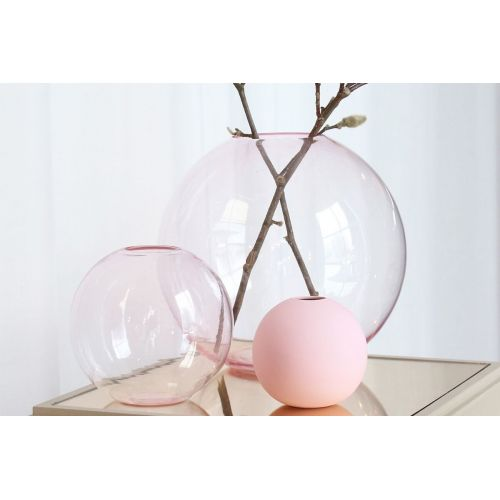 COOEE Design / Okrúhla sklenená váza Ball Glass Pink 15 cm