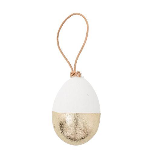 Bloomingville / Dekoratívne vajíčko White/Gold