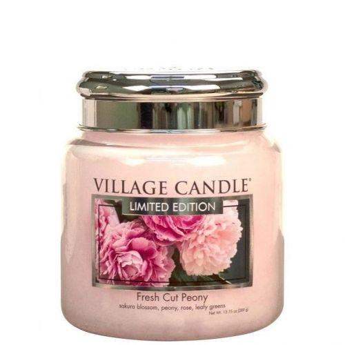 VILLAGE CANDLE / Sviečka Village Candle - Fresh Cut Peony 389g