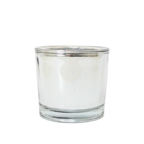 MADAM STOLTZ / Skleněný svícínek T-light Silver