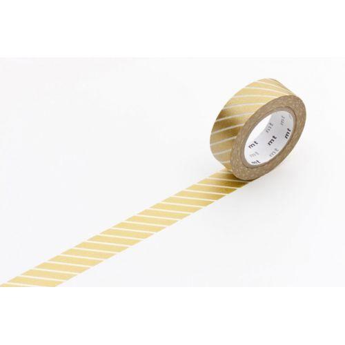 mt / Designová samolepiaca páska Stripe gold