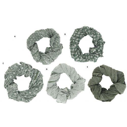 IB LAURSEN / Bavlnená šatka Green Combinations