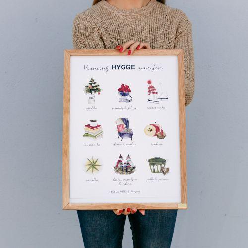 Bella Rose / Plagát Vianočný Hygge Manifest (limitovaná edícia - SK)