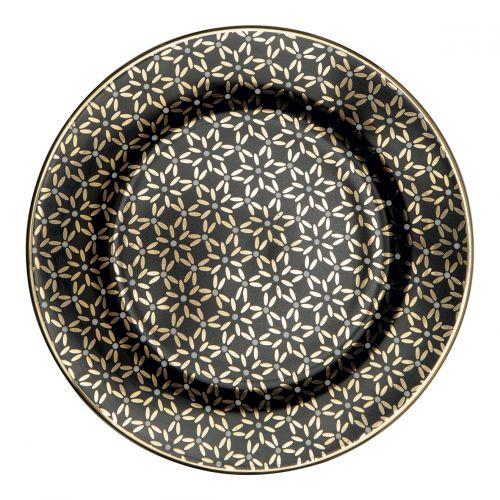 GREEN GATE / Porcelánový tanierik Juno Gold