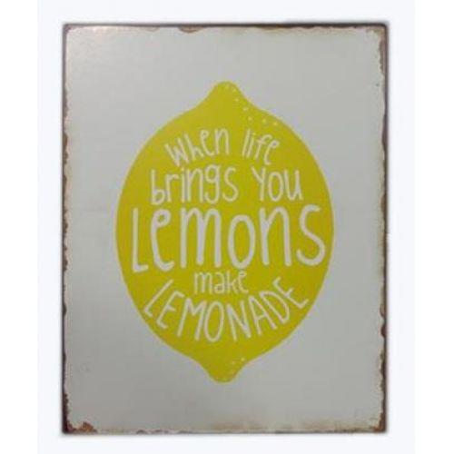 La finesse / Plechová ceduľa When life brings you lemons