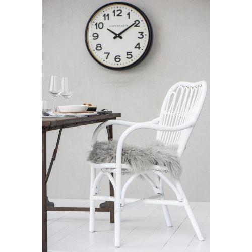 IB LAURSEN / Štýlová ratanová stolička White