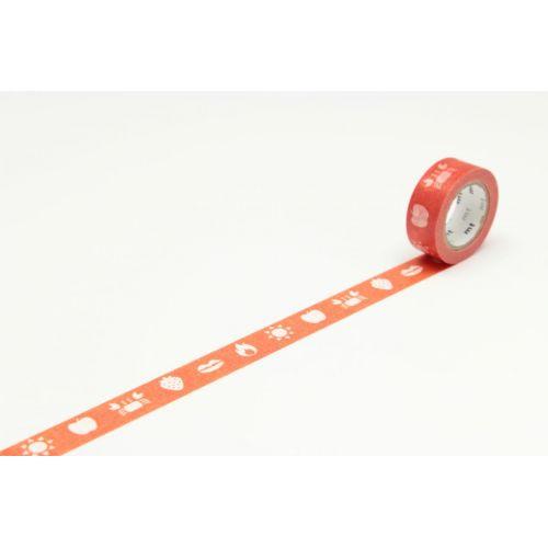 mt / Designová samolepiaca páska Color red