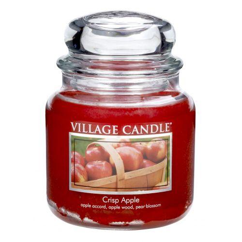 VILLAGE CANDLE / Sviečka v skle Crisp apple - stredná