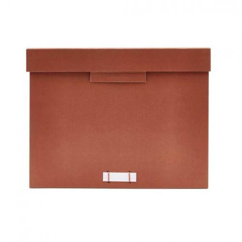 MONOGRAPH / Úložný box na dokumenty Cognac