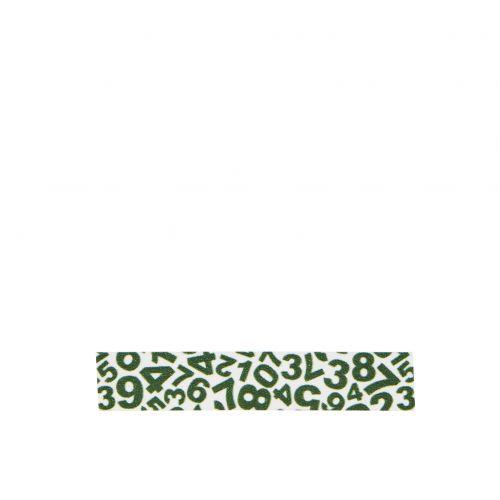 MADAM STOLTZ / Designová samolepící páska Number white/green
