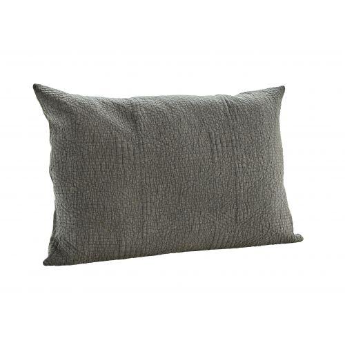MADAM STOLTZ / Obliečka na vankúš Quilted Cushion Charcoal