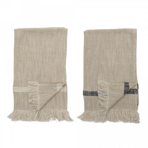 Bloomingville / Bavlnená utierka Nature Cotton 70×45 cm - set 2 ks