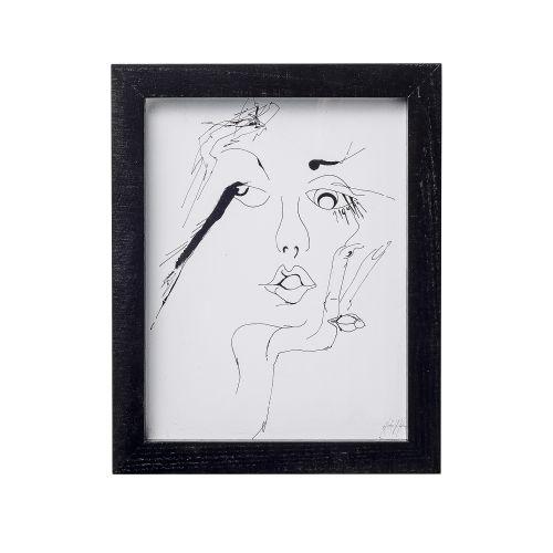 Bloomingville / Obrázok Sketched woman 20x25