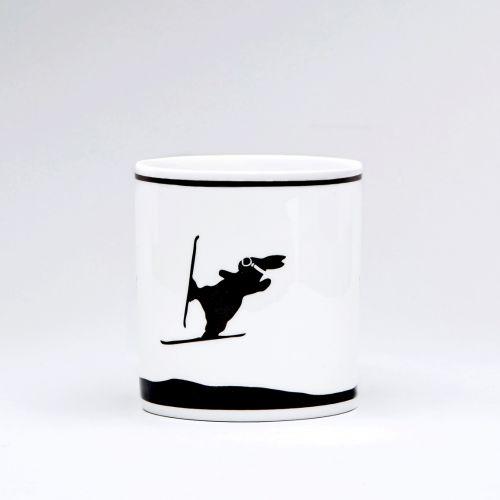 Porcelánový hrnek Ski Jumping Rabbit