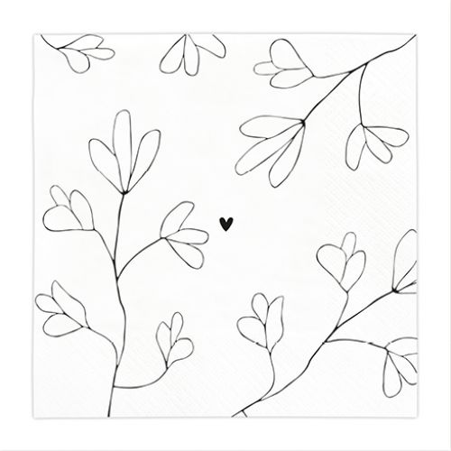 Papírové ubrousky White/Together 20ks