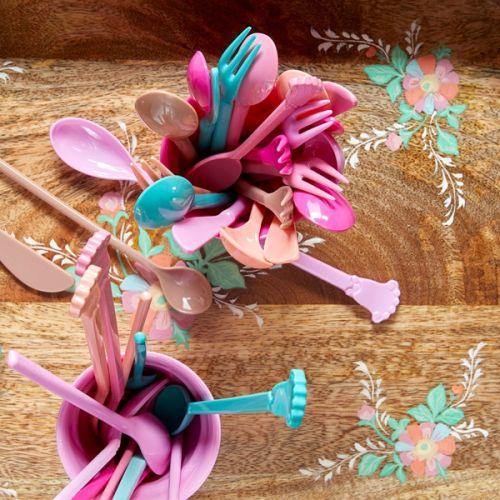 Melaminové lžičky Vintage Teaspoon Pink