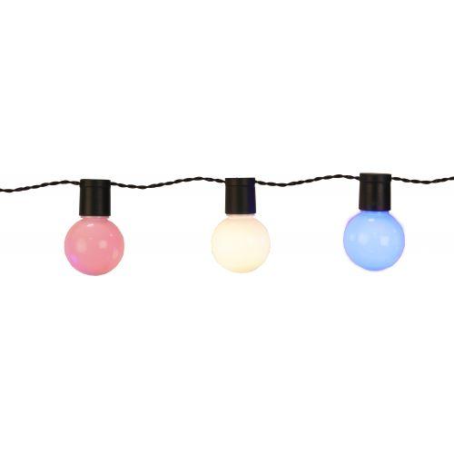 Barevný venkovní LED řetěz - 20 žárovek