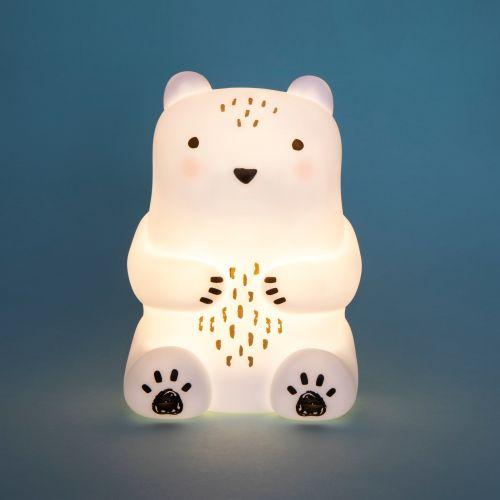 Dětské noční světýlko White Teddy Bear