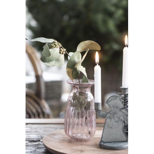 Váza Hyacint Pebbled Glass Rose