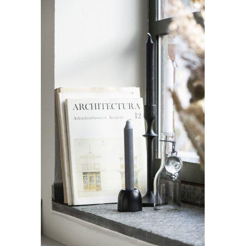 Vysoká svíčka Rustic Grey 18cm - set 3ks