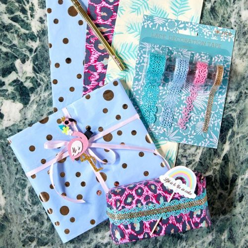 Krajkové papírové pásky set 4 ks