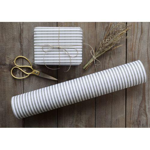 Dárkový balicí papír Stripes Olive - 10 m